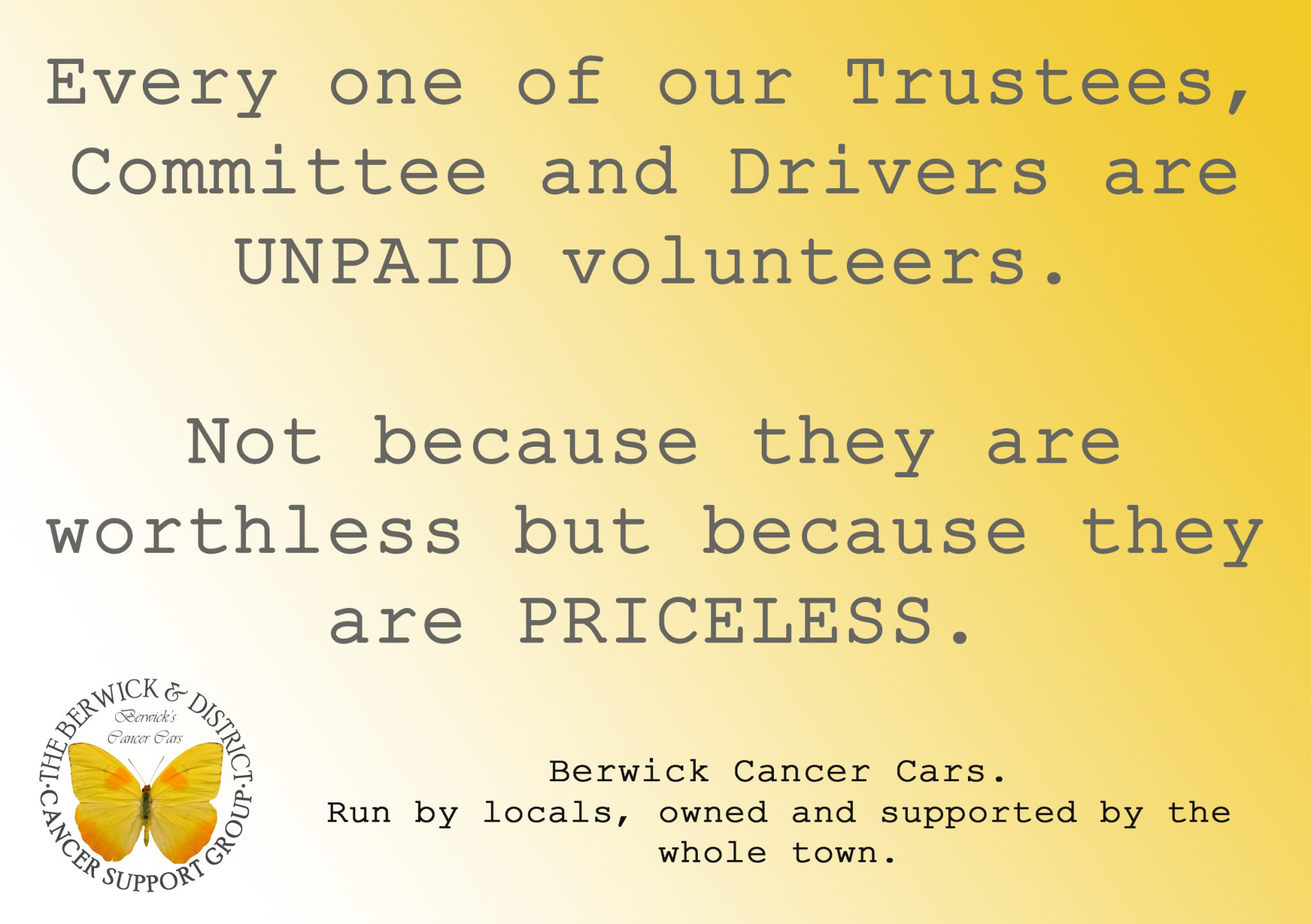 Berwick Cancer Cars - Free, exclusive cancer care transport.