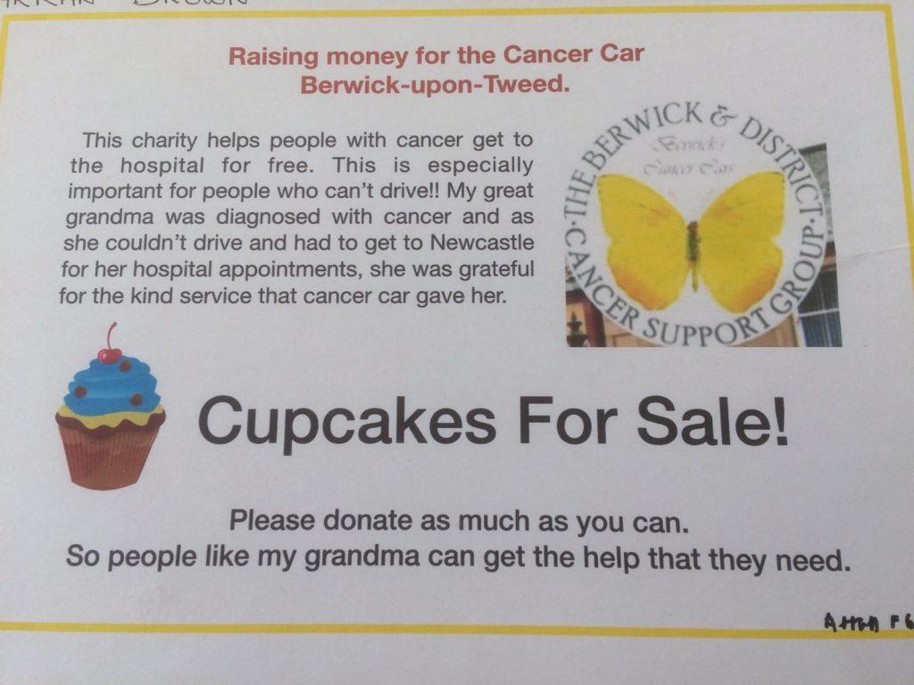 Arran Brown Cake Sale - Berwick Cancer Cars