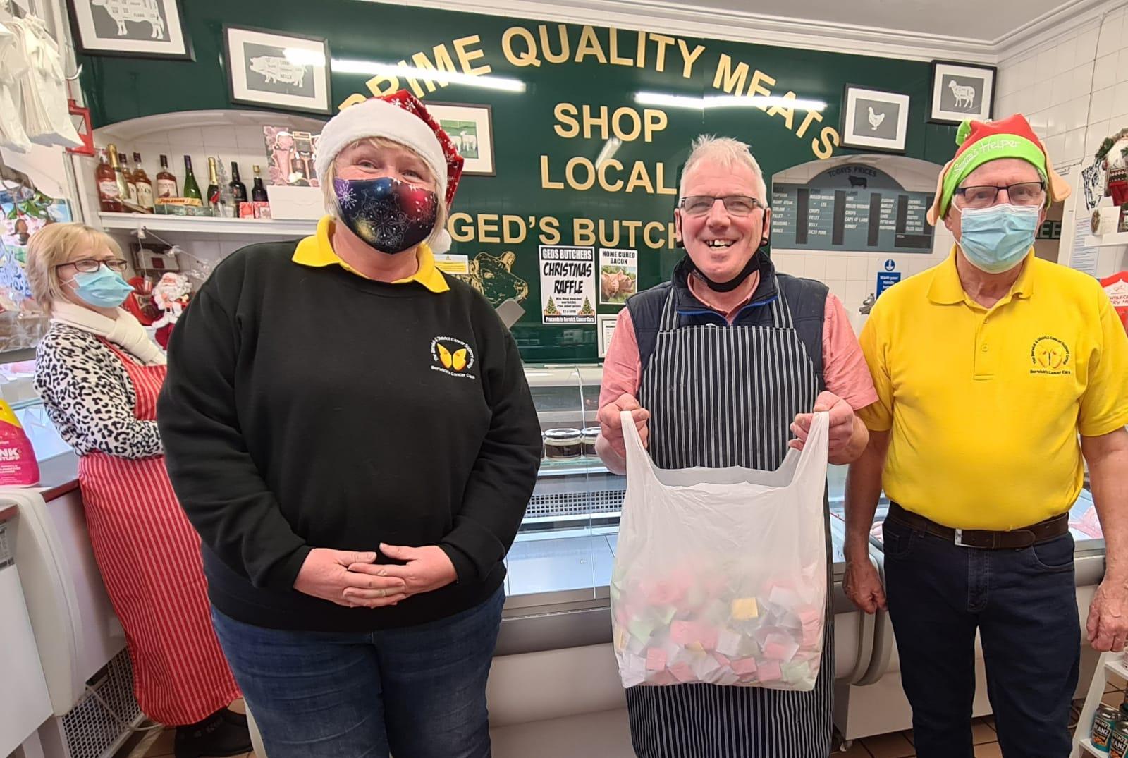 Ged's Butchers Christmas Raffle Draw