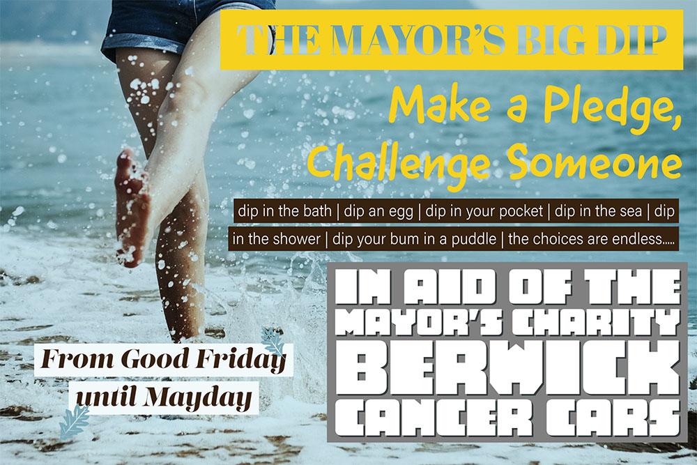 Mayor of Berwick-Upon-Tweed - Mayor's Big Dip for Cancer Cars
