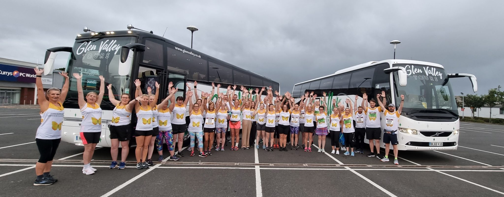 Some of our 2021 Team Runners o their way to Newcastle